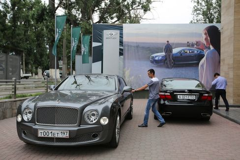 Oil-rich Kazakhstan represents the new frontier for the makers of the world's most expensive cars. Photographer: Andrey Rudakov/Bloomberg