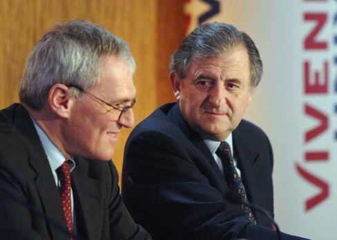 Vivendi SA CEO Jean-Bernard Levy and Chairman Jean-Rene Fourtou