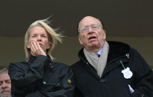 Elisabeth and Rupert Murdoch