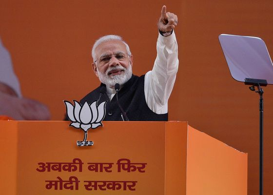 Modi Launches India Election Campaign With 'Miles to Go'Speech