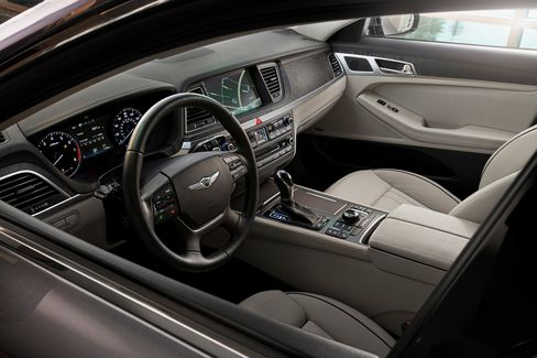 The Genesis interior is stately but not space-age.