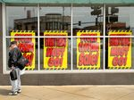 Closing down sales in Chicago.