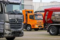 New Trucks at a Daimler AG Factory Delivery Centre Ahead of IPO