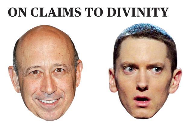 Lloyd Blankfein vs. Eminem