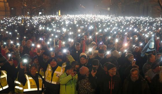 Hungarians Target State Broadcaster as Anti-Orban Protests Grow