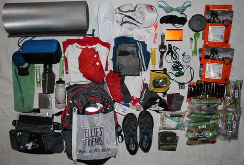 The complete contents of my pack.