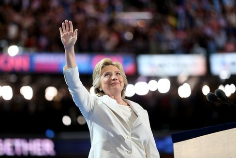 Hillary Clinton at the Democratic National Convention on July 28.