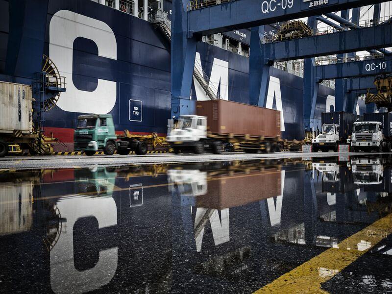 Onboard CMA CGM SA's Benjamin Franklin Container Ship