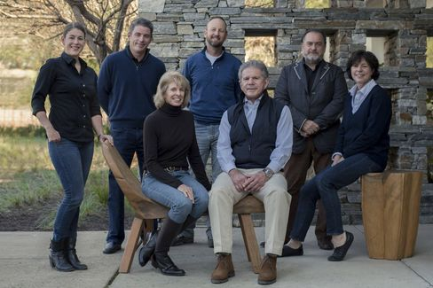 The team of Accendo Cellars, with Daphne and Bart Araujo seated front-center.