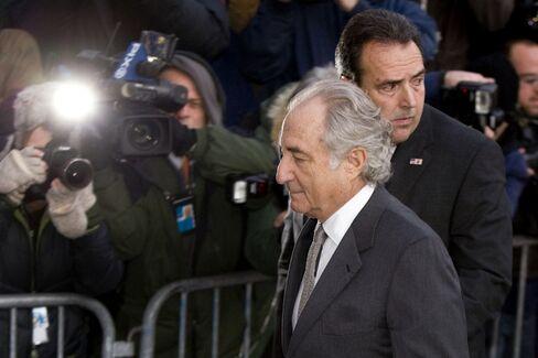 Bernard Madoff before entering a guilty plea today