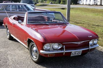 A 1965 Chevy Corvair spyder.