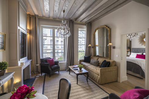 One of four apartments at the newly converted 25 Place Dauphine.