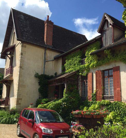 The yard at Domaine Lahaye.