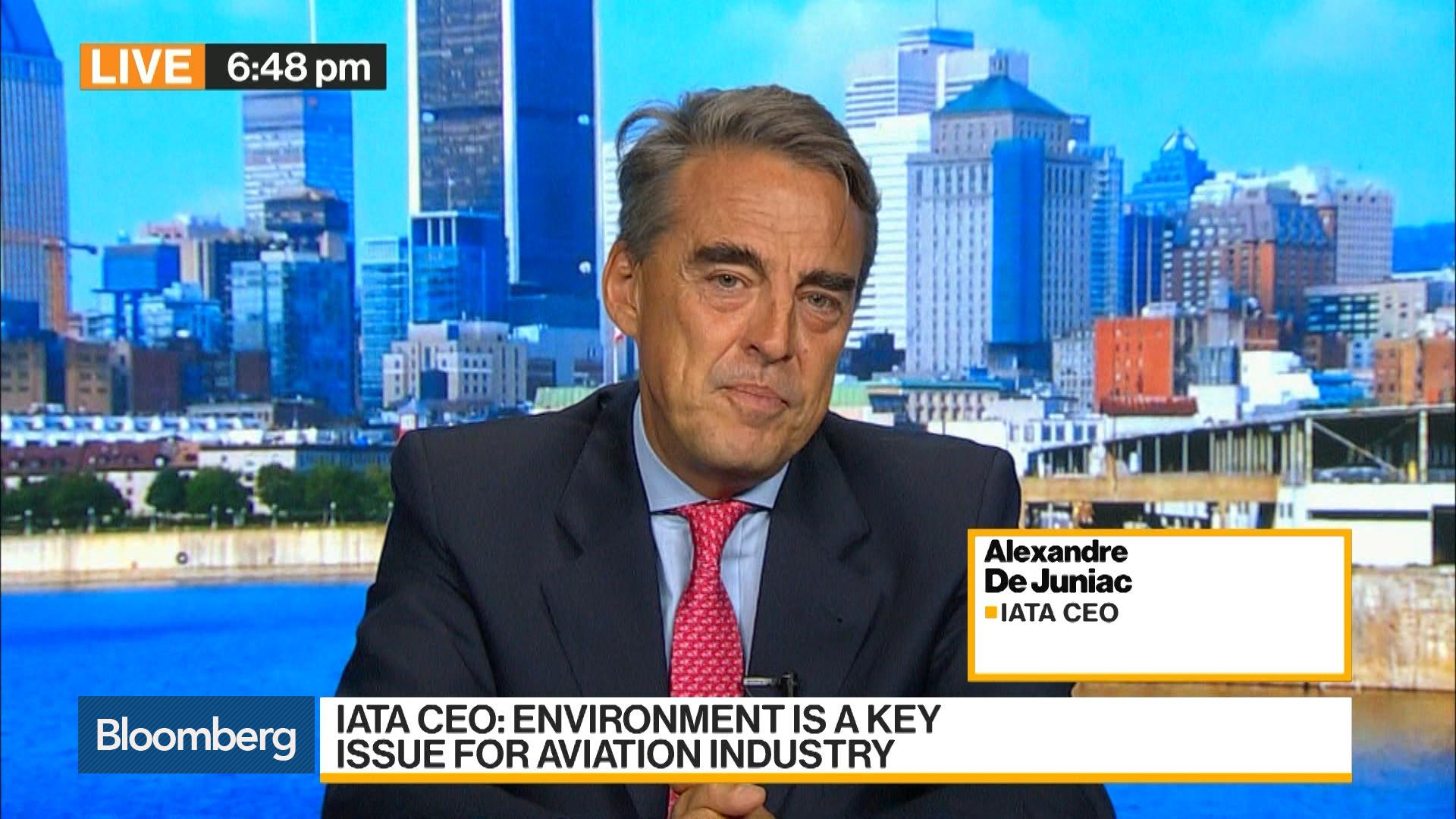 Alexandre De Juniac, CEO of IATA, on Boeing 737 Max, Travel Demand, Drones