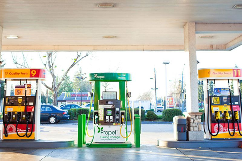 The gas station of the future just opened bloomberg the gas station of the future just opened pronofoot35fo Gallery