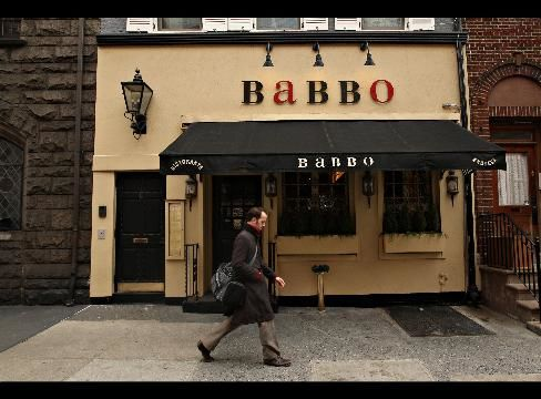 Batali and Bastianich's Babbo in New York