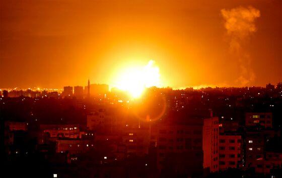 Gaza Rocket Barage Draws Dozens of Israeli Airstrikes