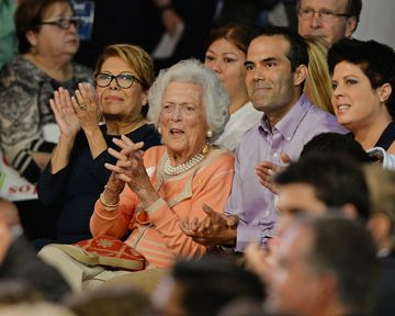 Columba Bush, Barbara Bush and George P. Bush as Former Florida Governor Jeb Bush announces his candidacy for the 2016 Republican Presidential nomination during a rally at Miami Dade College on June 15, 2015 in Miami, Florida.