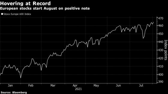 European Stocks Rise to Record as Earnings, China Boost Mood