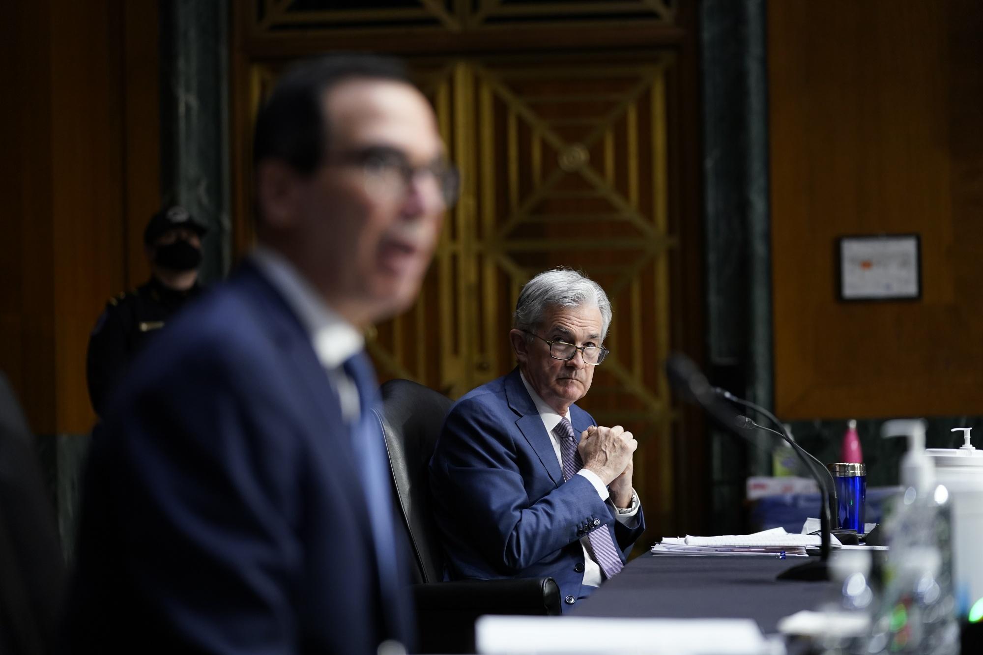 PowellとMnuchinが上院銀行委員会の前証言