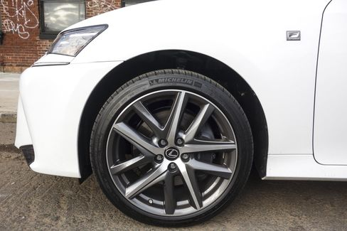 The F Sport package comes with additional badging details.