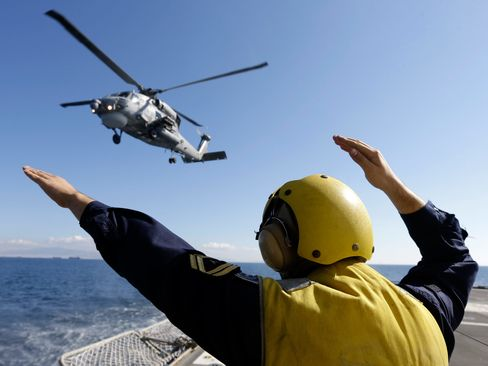 A Greek Navy officers during a Greek joint military exercise in the Saronic Gulf, south of Athens on Oct. 30, 2014.
