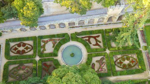 シャトー内の庭