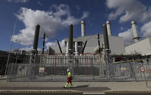 A Gas Fired Power Station in the U.K.