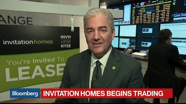 Blackstones invitation homes unchanged in trading debut bloomberg blackstones invitation homes unchanged in trading debut stopboris Images