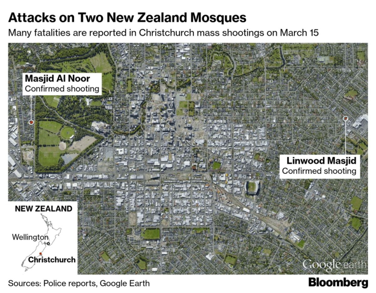 Dozens Dead After New Zealand Mosque Shootings - Bloomberg ...