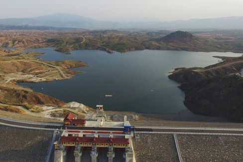 The Jatigede Dam, on Sept. 25, 2015.