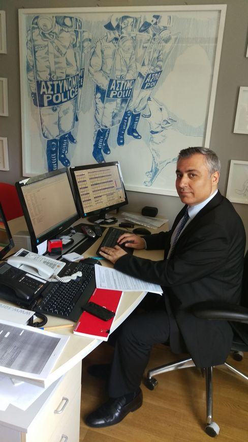 Fund manager Haydar Acun in his Istanbul office. Photographer: Taylan Bilgic/Bloomberg
