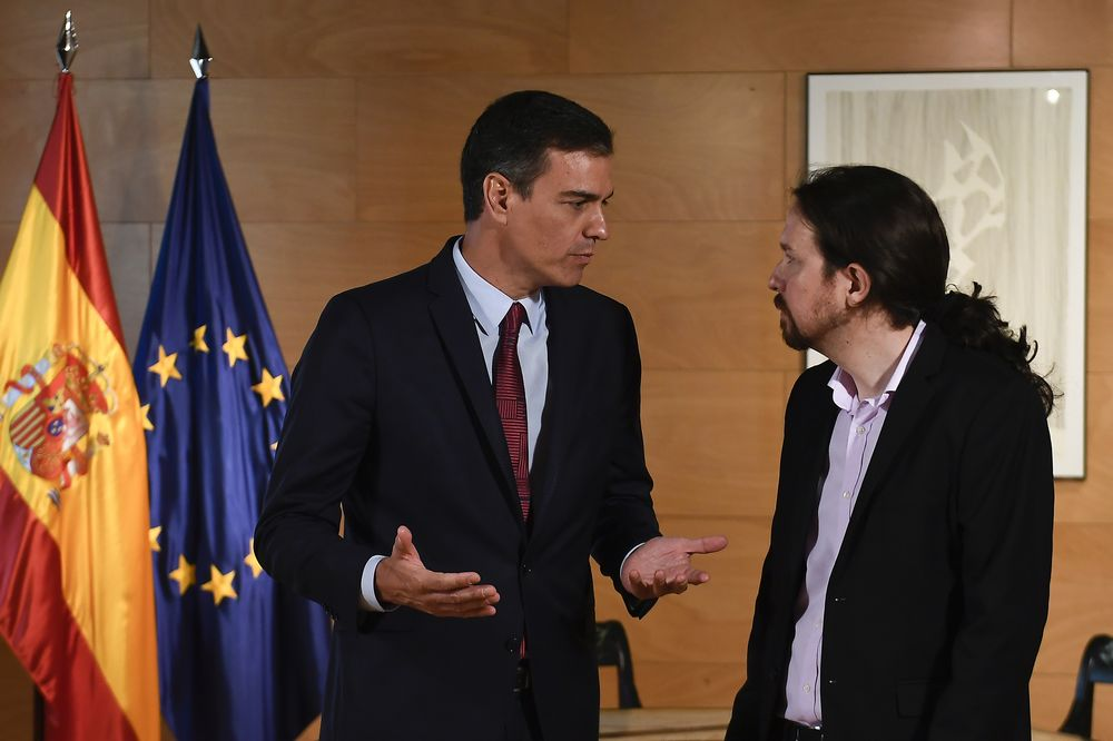Spain Risks Repeat Election as Podemos Holds Sanchez Hostage