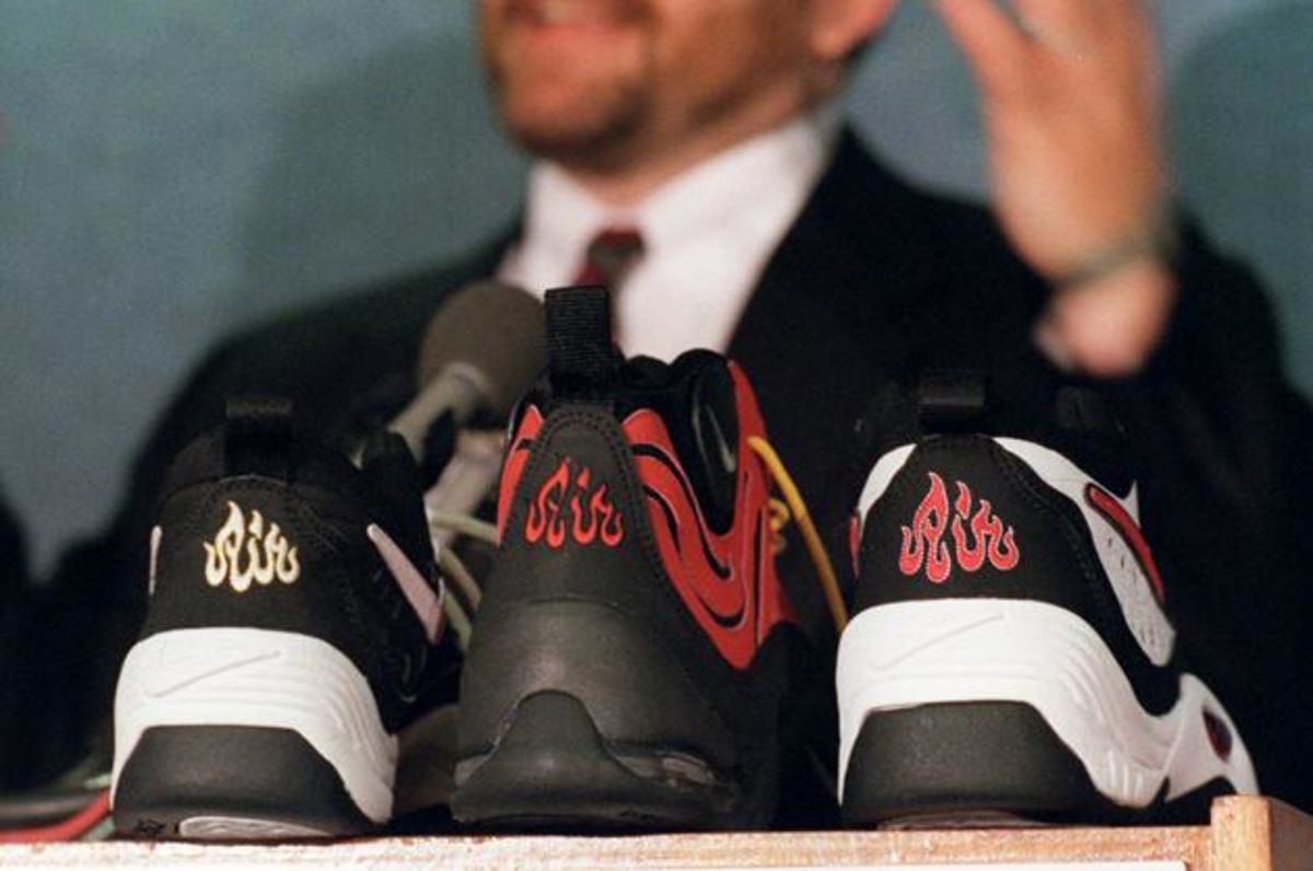 sale retailer 28034 3bc85 Adidas s Shackle Shoes and Other Highly Offensive Products - Bloomberg
