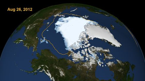 Shrinking Arctic Ice Hits New Recorded Low