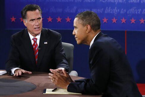 President Barack Obama and Republican Nominee Mitt Romney