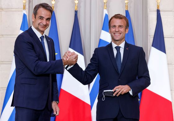 Macron Back With Greek Defense Pact After Submarine Crisis
