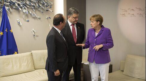 Hollande, Merkel & Poroshenko