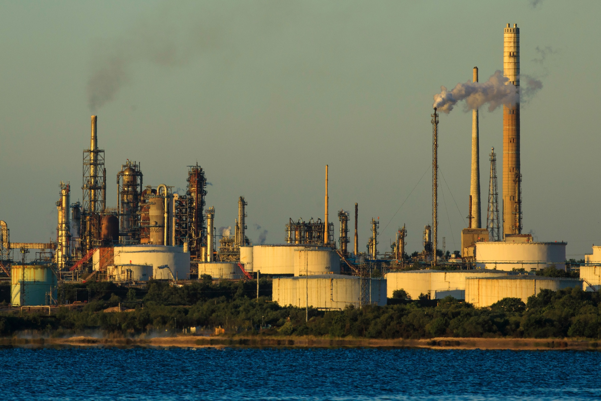 The Esso Fawley Oil Refinery, operated by Exxon Mobil Corp. in Fawley, U.K.