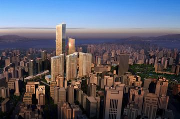 A rendering of Eton Place Dalian Tower in Dalian, China.