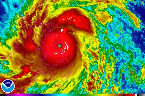 Super Typhoon Haiyan Slams Philippines With Category-5 Power