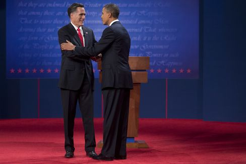 Republican Candidate Mitt Romney and U.S. President Barack Obama