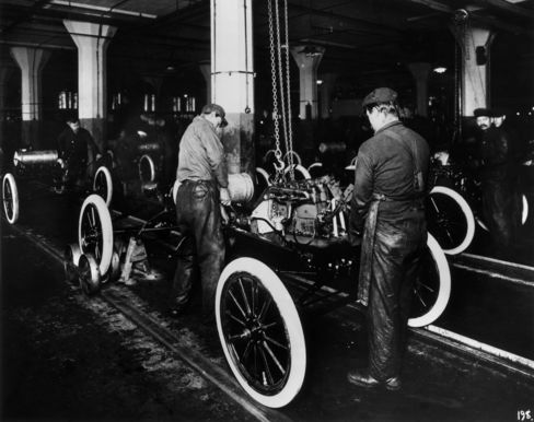Ford Motor Factory in 1914