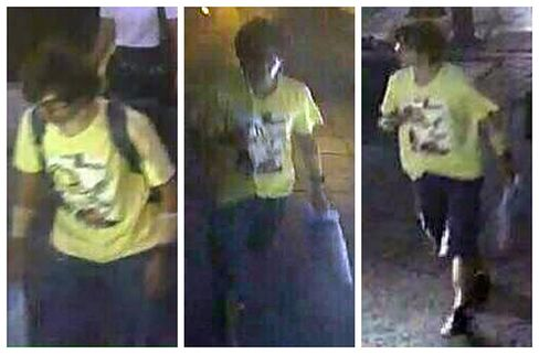 Footage released of a man wearing a yellow T-shirt near the Erawan Shrine.
