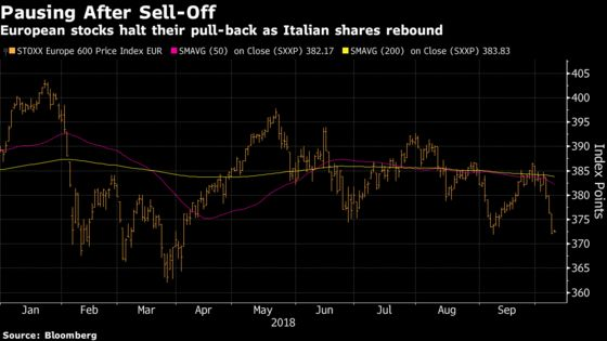 European Stocks Steady as Italian Shares Bounce Back After Rout