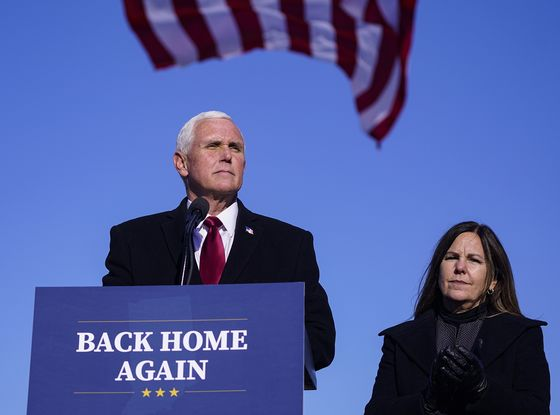 Pence Stands Behind Trump and His Record in Early 2024 Speech