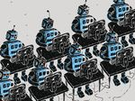 Group of Robots and personal computer