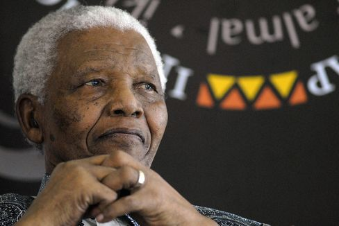 South Africa's First Black President Nelson Mandela