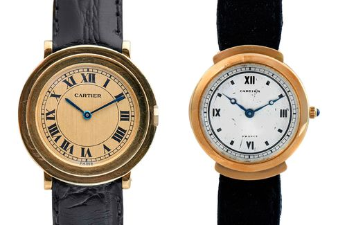 Round dress watches in two different styles.