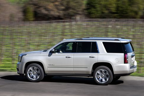 The GMC Yukon Denali is the upgraded and more expensive version of the standard-issue Yukon.